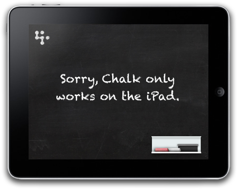 Sorry, Chalk only works on the iPad.